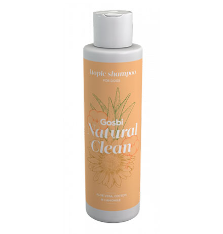 Gosbi Natural Clean Atopic shampoo / Шампунь Госби для взрослых собак с Чувствительной кожей
