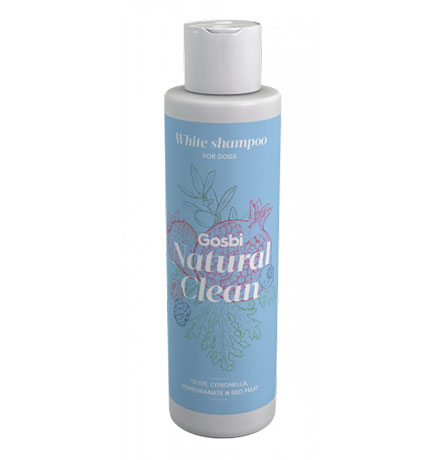 Gosbi Natural Clean White shampoo / Шампунь Госби для собак с Белой шерстью
