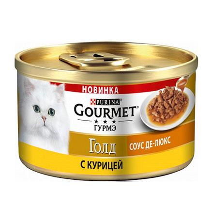 Gourmet Gold / Консервы Гурме Голд для кошек Соус де-люкс с Курицей (цена за упаковку)