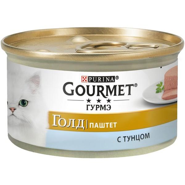 Gourmet Gold / Паштет Гурме Голд для кошек с Тунцом (цена за упаковку)
