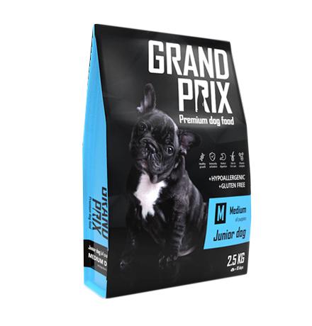 Grand Prix Junior Dog Medium / Сухой Гипоаллергенный Безглютеновый корм Гран При для Щенков Средних пород Курица
