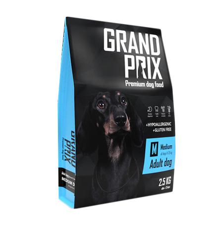 Grand Prix Adult Dog Medium / Сухой Гипоаллергенный Безглютеновый корм Гран При для взрослых собак Средних пород Курица