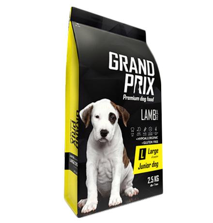 Grand Prix Junior Dog Large Lamb / Сухой Гипоаллергенный Безглютеновый корм Гран При для Щенков Крупных пород Ягненок