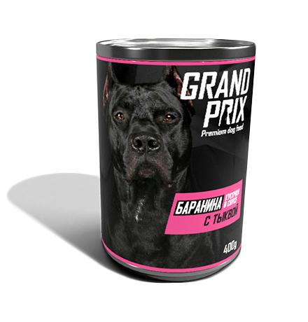 Grand Prix / Консервы Гран При для собак Аппетитные кусочки в соусе Баранина с Тыквой (цена за упаковку)