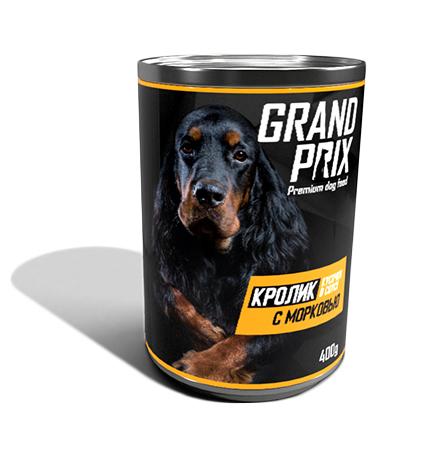 Grand Prix / Консервы Гран При для собак Аппетитные кусочки в соусе Кролик с Морковью (цена за упаковку)