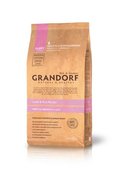 Grandorf Puppy Holistic & Hypoallergenic Lamb & Rice / Сухой корм Грандорф Низкозерновой для Щенков Ягненок Рис