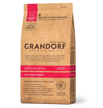 Grandorf Holistic & Hypoallergenic Medium Lamb & Rice / Сухой корм Грандорф Низкозерновой для взрослых собак Средних пород Ягненок Рис