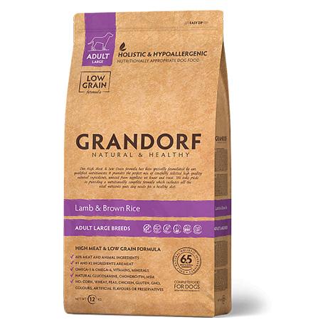 Grandorf Holistic & Hypoallergenic Maxi Lamb & Rice / Сухой корм Грандорф Низкозерновой для взрослых собак Крупных пород Ягненок Рис