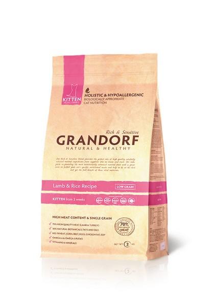 Grandorf Kitten Lamb & Rice / Сухой корм Грандорф Низкозерновой для Котят Ягненок Рис