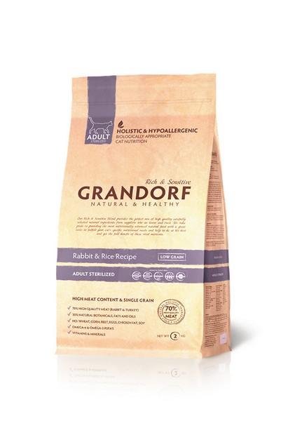 Grandorf Holistic & Hypoallergenic Sterilized Rabbit & Rice / Сухой корм Грандорф Низкозерновой для Стерилизованных кошек Кролик Рис