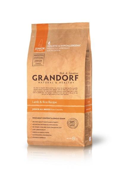 Grandorf Holistic & Hypoallergenic Junior Lamb & Rice / Сухой корм Грандорф Низкозерновой для Юниоров Ягненок Рис