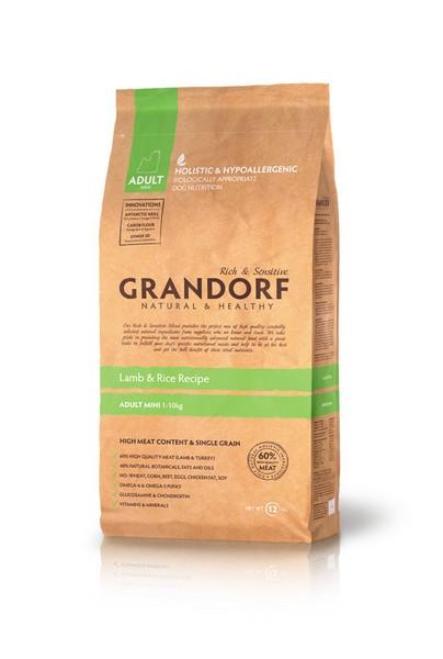 Grandorf Holistic & Hypoallergenic Mini Lamb & Rice / Сухой корм Грандорф Низкозерновой для взрослых собак Мелких пород Ягненок Рис