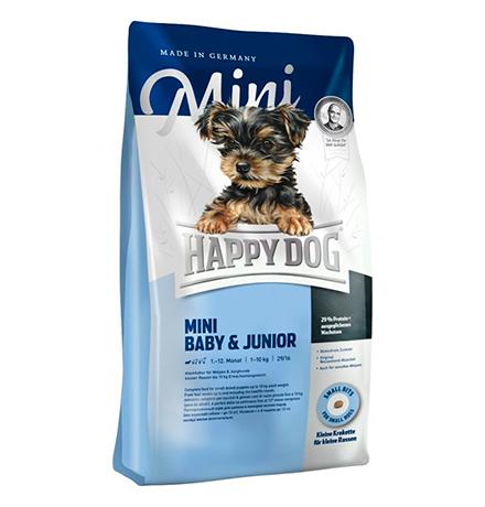 Happy Dog Supreme Mini Baby & Junior (29/16) / Сухой корм Хэппи Дог Суприм для Щенков Мелких пород до 12 месяцев