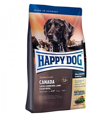 Happy Dog Supreme Sensible Canada Lachs, Kaninchen, Lamm / Сухой корм Хэппи Дог Чувствительное пищеварение Канада (Лосось, Кролик, Ягненок)