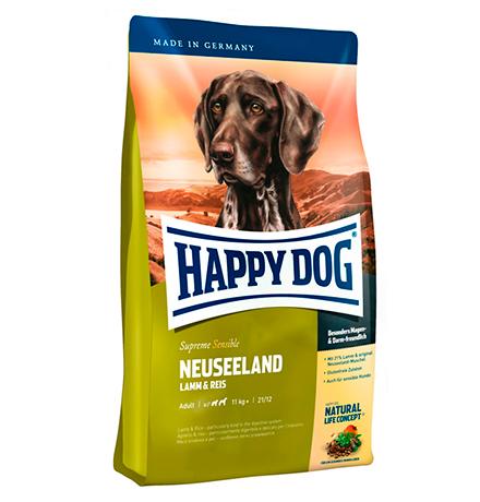 Happy Dog Supreme Sensible Neuseeland Lamm & Reis / Сухой корм Хэппи Дог Чувствительное пищеварение Новая Зеландия (Ягненок с рисом)