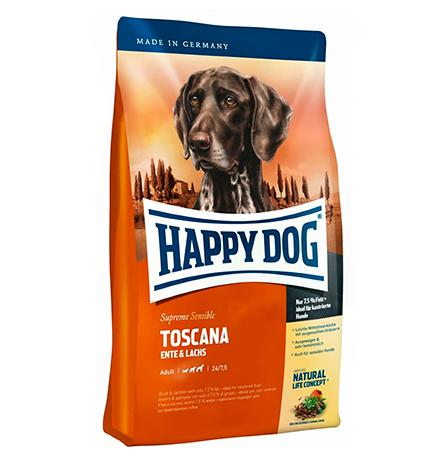 Happy Dog Supreme Sensible Toscana Ente & Lachs / Сухой корм Хэппи Дог Чувствительное пищеварение Тоскана (Утка и Лосось)