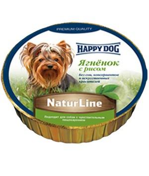 Happy Dog NaturLine / Паштет Хэппи Дог для собак Ягненок с рисом (цена за упаковку, Германия)