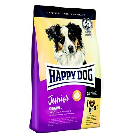 Happy Dog Junior Original / Сухой корм Хэппи Дог для Юниоров в возрасте с 7 по 18 месяц