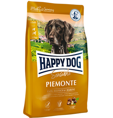 Happy Dog Piemonte Sensible Ente Seefish & Maroni / Сухой корм Хэппи Дог Чувствительное пищеварение Пьемонт (Утка Морская рыба каштан)