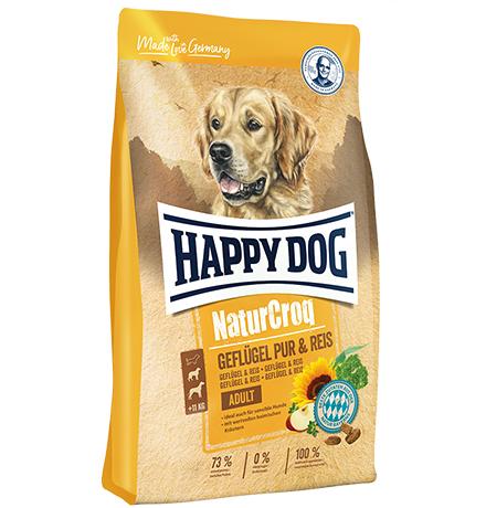 Happy Dog NaturCroq Adult Geflugel Pur & Reis / Сухой корм Хэппи Дог НатурКрок Птица с рисом