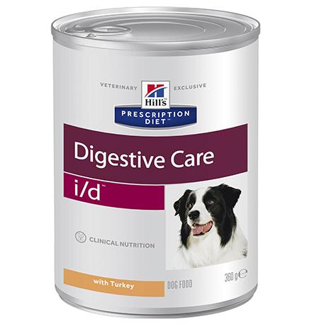 Hills Prescription Diet i/d Digestive Care / Влажный диетический корм Хиллс (консервы) для собак при расстройствах пищеварения и ЖКТ Индейка (цена за упаковку)