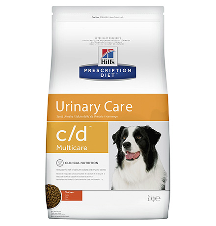 Hills Prescription Diet c/d Multicare Urinary Care / Сухой диетический корм Хиллс для собак при лечении и профилактике мочекаменной болезни (МКБ) Курица