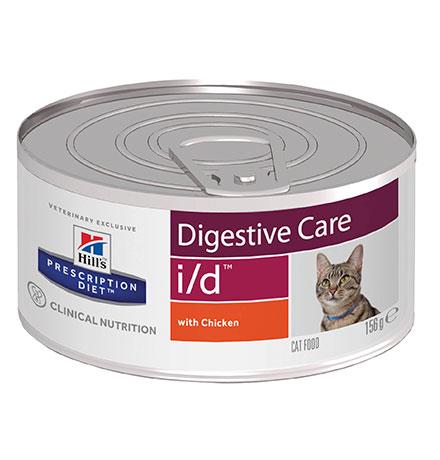 Hills Prescription Diet i/d Digestive Care / Влажный диетический корм Хиллс (консервы) для кошек и Котят при расстройствах пищеварения и ЖКТ Курица (цена за упаковку)