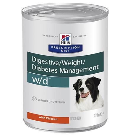 Hills Prescription Diet Canine w/d / Лечебные консервы Хиллс w/d для собак Сахарный диабет (цена за упаковку)