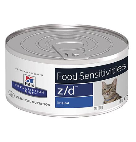 Hills Prescription Diet Feline z/d / Лечебные консервы Хиллс z/d для кошек Пищевая аллергия (цена за упаковку)