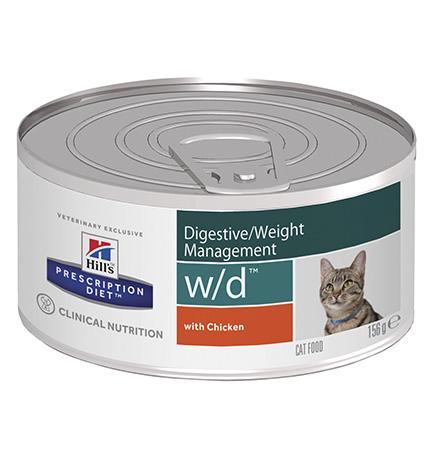 Hills Prescription Diet Feline w/d / Лечебные консервы Хиллс w/d для кошек Сахарный диабет (цена за упаковку)