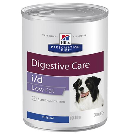 Hills Dog Prescription Diet Canine i/d Low Fat / Лечебные консервы Хиллс для собак с расстройством ЖКТ Низкокалорийный (цена за упаковку)