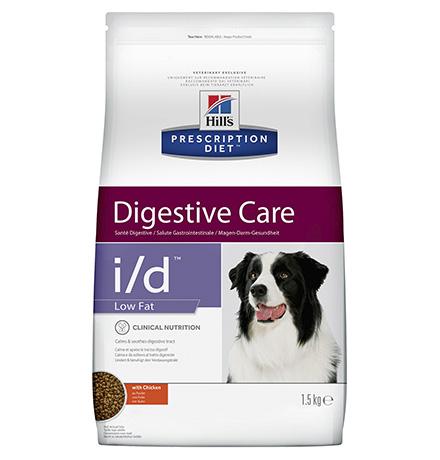 Hills Dog Prescription Diet Canine i/d Low Fat / Лечебный корм Хиллс для собак с расстройством ЖКТ Низкокалорийный
