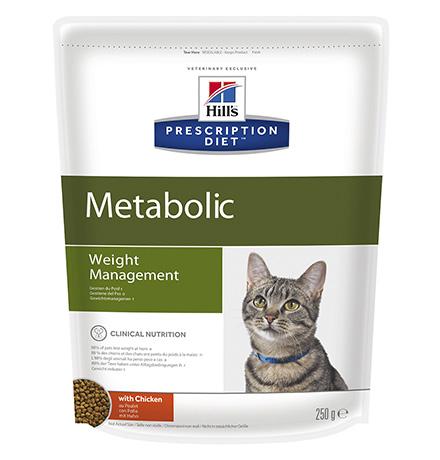 Hills Prescription Diet Metabolic Weight Management / Сухой диетический корм Хиллс для кошек с ожирением способствует снижению и контролю веса Курица