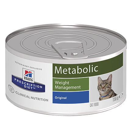 Hills Prescription Diet Feline Metabolic / Лечебные консервы Хиллс Метаболик для кошек Коррекция веса (цена за упаковку)