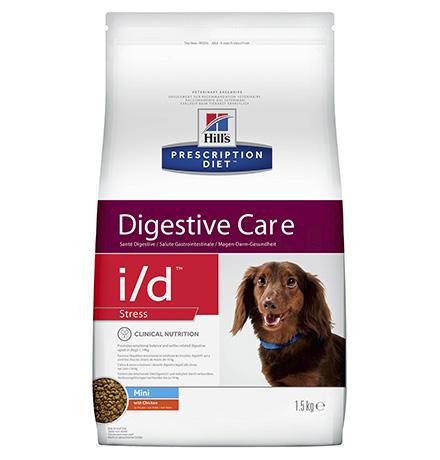 Hills Dog Prescription Diet i/d Stress Mini Canine / Лечебный корм Хиллс i/d для собак Мелких пород Заболевание ЖКТ + Cтресс (нарушение пищеварения)