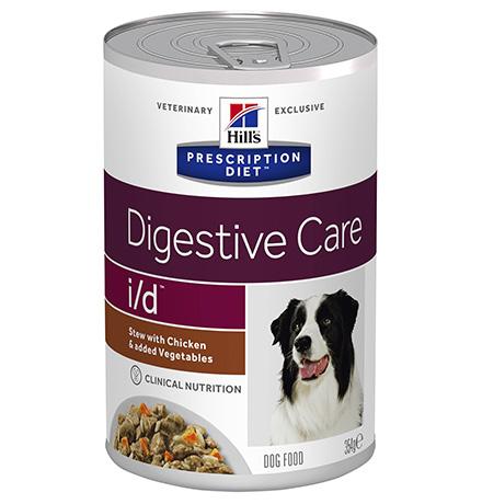 Hills Prescription Diet Canine i/d / Лечебные консервы Хиллс i/d для собак Заболевание ЖКТ (нарушение пищеварения) Рагу с Курицей и добавлением овощей (цена на упаковку)