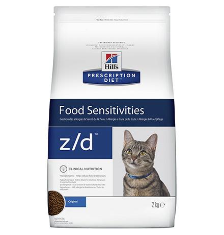 Hills Prescription Diet z/d Food Sensitivities / Сухой диетический гипоаллергенный корм Хиллс для кошек при пищевой Аллергии