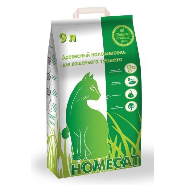 Homecat / Древесный наполнитель Хоумкэт для кошачьего туалета Мелкие гранулы