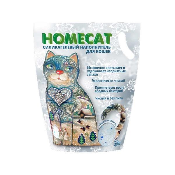 Homecat / Силикагелевый наполнитель Хоумкэт для кошачьего туалета аромат Морозная свежесть