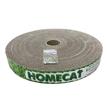 Homecat Мятная / Когтеточка Хоумкэт для кошек Круглая Гофрокартон