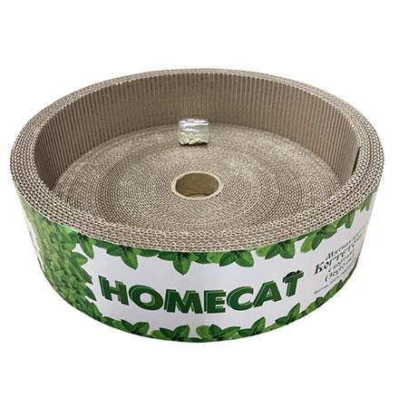 Homecat Мятная / Когтеточка Хоумкэт для кошек Круглая с Бортами Гофрокартон