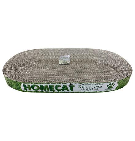Homecat Мятная / Когтеточка Хоумкэт для кошек Овальная Гофрокартон
