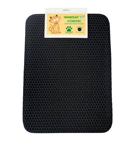 Homecat Eva / Коврик Хоумкэт для кошачьего туалета Двойной Прямоугольный Черный