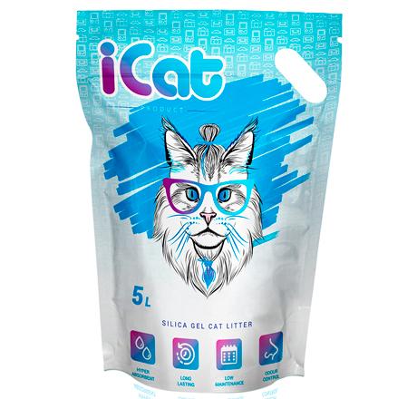 iCat Silica Gel / Наполнитель АйКэт для кошачьего туалета Силикагелевый Без ароматизатора