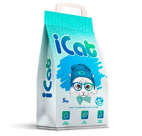 iCat Non Clumping Antibacterial / Наполнитель АйКэт для кошачьего туалета Впитывающий Антибактериальный