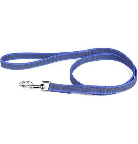 JULIUS-K9 Color & Gray Super-grip / Поводок Джулиус К9 для собак весом до 50 кг с Ручкой Сине-серый