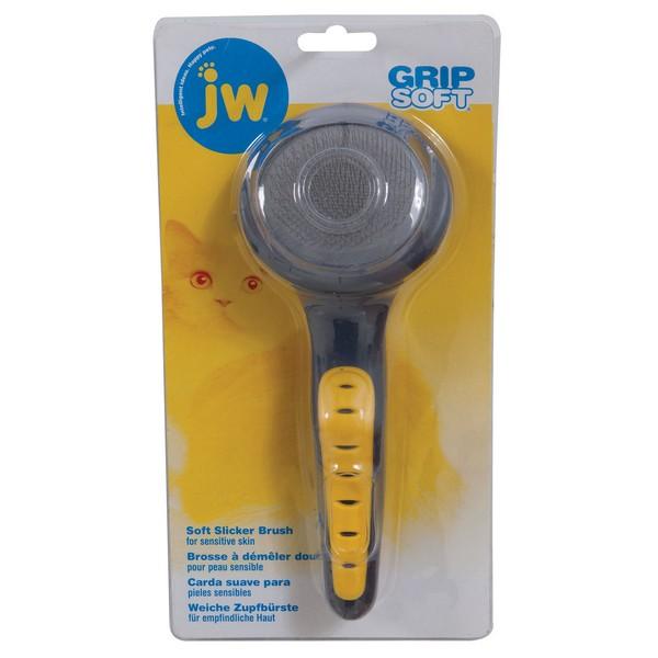 JW Grip Soft Slicker Brush / Щетка-пуходерка для кошек
