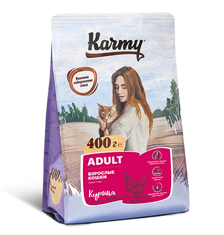 Karmy Adult / Сухой корм Карми для взрослых кошек Курица