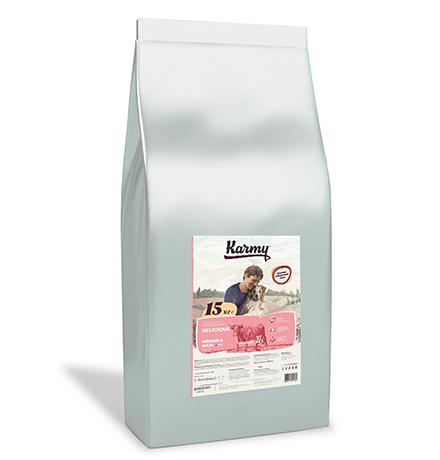 Karmy Delicious Medium Maxi / Сухой корм Карми для собак Средних и Крупных пород Телятина
