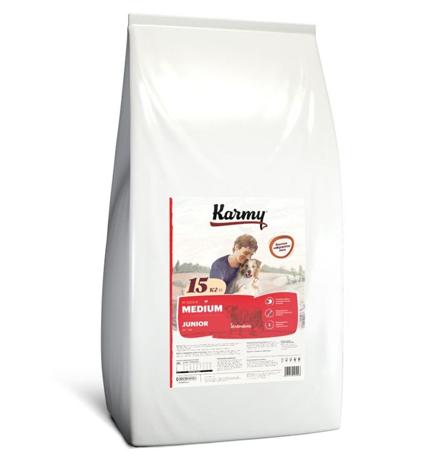 Karmy Junior Medium / Сухой корм Карми для Щенков Средних пород до 1 года Телятина